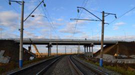 Дорога, эстакада, железнодорожная, переезд