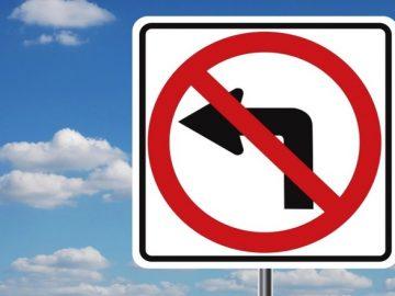 ЦОДД предупредил автомобилистов об изменении схемы движения в пос. Марушкинское, знак левый поворот отменен
