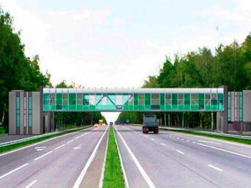 Надземный пешеходный переход построят недалеко от СНТ «Полянка» в ТиНАО