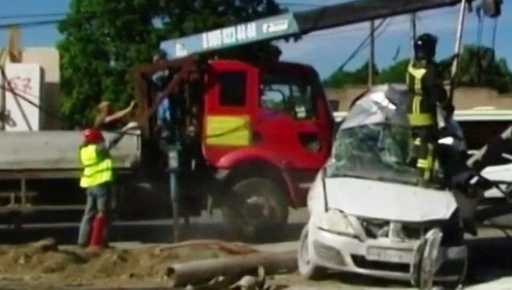 Четыре человека пострадали в аварии с участием рейсового автобуса и легковой машины в ТиНАО