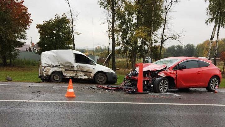 Четыре человека пострадали в результате ДТП с участием двух автомобилей в ТиНАО