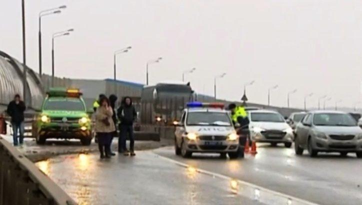 В аварии с участием пяти автомобилей в ТиНАО пострадал один человек
