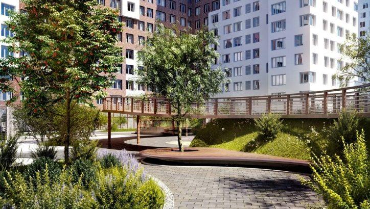 В ЖК «Румянцево-Парк» приступили к благоустройству придомовой территории