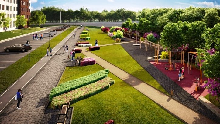 В ЖК «Румянцево-Парк» благоустроен ландшафтный парк