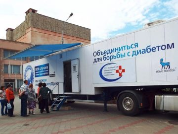 Мобильный диабет-центр принимает в Троицке