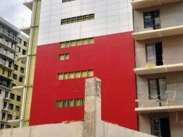 В ЖК «Аквилон PARK» начались фасадные работы