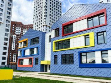 Завершается строительство детского сада в ЖК «Румянцево-Парк»