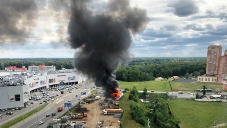 Пожар второго ранга сложности произошел на автогазозаправочной станции в ТиНАО