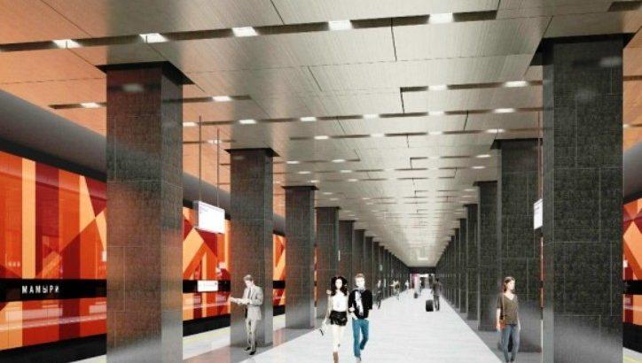 Станцию «Мамыри» Коммунарской линии оформят в «осенних» тонах