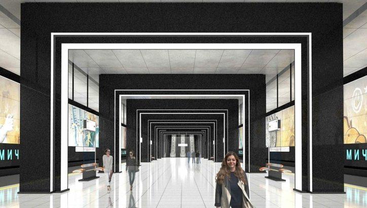 Станцию «Академическая» Коммунарской линии украсят «порталы»