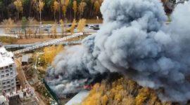Прокуратура начала проверку из-за пожара на стройплощадке в ТиНАО